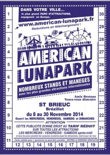 American Lunaparck Saint Brieuc 2014