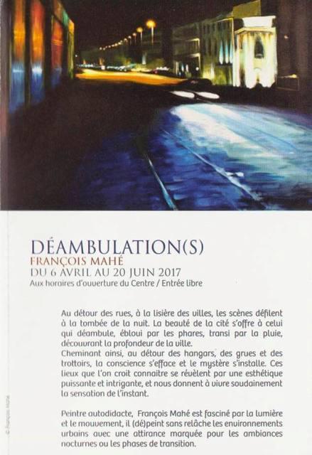 DEAMBULATION(S) - du 6 avril au 20 juin 2017 Arcadie Ploudalmézeau centre culturel