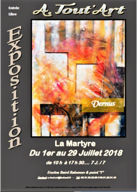 photo de l'affiche pour les r_seaux et journaux Vernuss La Martyre Juillet 2018